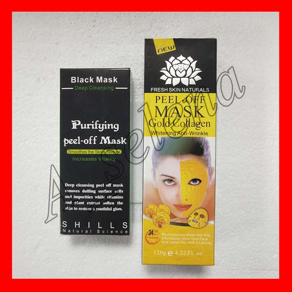gold collagen mask peel-off mask shills deep peeling off blackhead remover shills black mask facial skin care