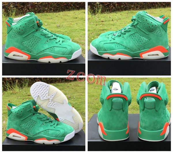 77142069242e74 2018 New 6 Gatorade Basketball Shoes for Mens Trainers 6s Green Gatorade  Top Quality Outdoor Brand