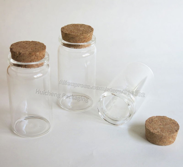 10pcs/lot 50ml clear glass bottle with wooden cork, 50ml clear glass sample vial, glass jar
