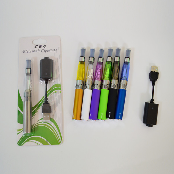 Electronic Cigarette eGo-T CE4 Blister Single Kit With CE4 Clearomizer ego Battery vape pen battery Father day gifts