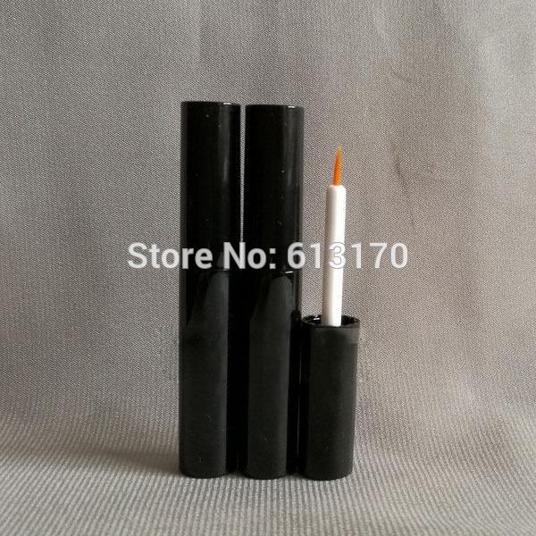 4ml Empty Eyeliner Tube Black Eye Liner Packaging liquid Bottle revitalash Eyelash Bottles Cosmetics Packing container 50pcs/Lot