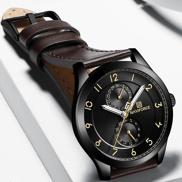 eb920bd24fe Top Marca NAVIFORCE dos homens Moda Criativa de Quartzo Relógio de Pulso À  Prova D