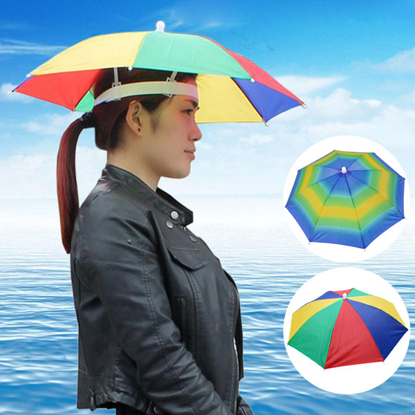 NIBESSER 2018 New Arrive Portable Umbrella Hat Waterproof Sun Outdoor Pesca Caps For Women And Men Dropshipping