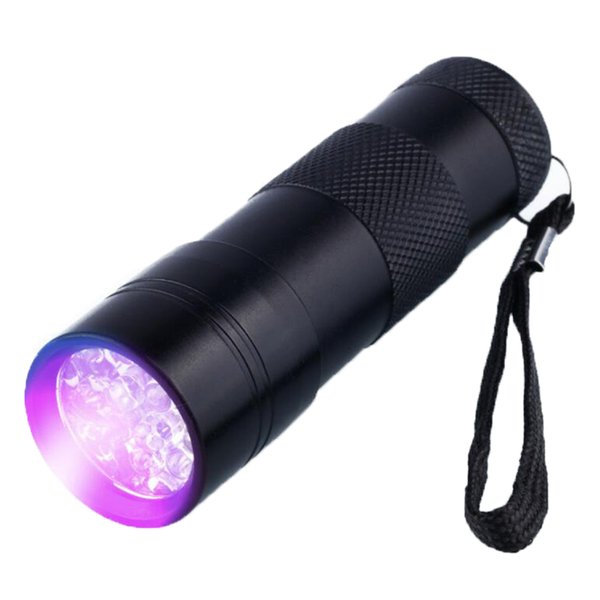 395NM UV 12 LEDs Purple Light LED Torch for Amber Currency Detector Portable Waterproof Aluminium UV Ultra Violet