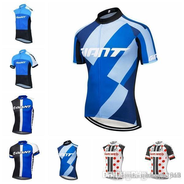 5af63811d GIANT team Cycling Short Sleeves Sleeveless jersey Vest outdoor Mens Quick- Dry mountain bike
