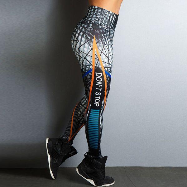 Leggings di Yoga Sexy di alta qualità Leggings da donna Leggings Stripe Stampa Pantaloni sportivi da fitness Pantaloni da jogging Legging per le donne