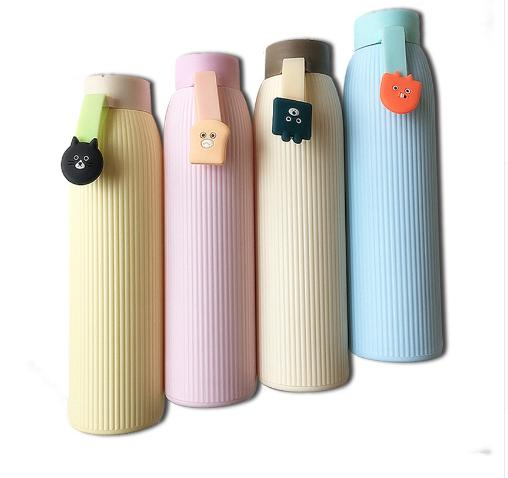 400ml Children Infusers High Temperature Resistant Glass Water Bottle Sports Portable With Silicone Set Drinkware Water Bottles