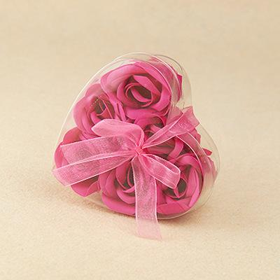 6pcs rose red flower