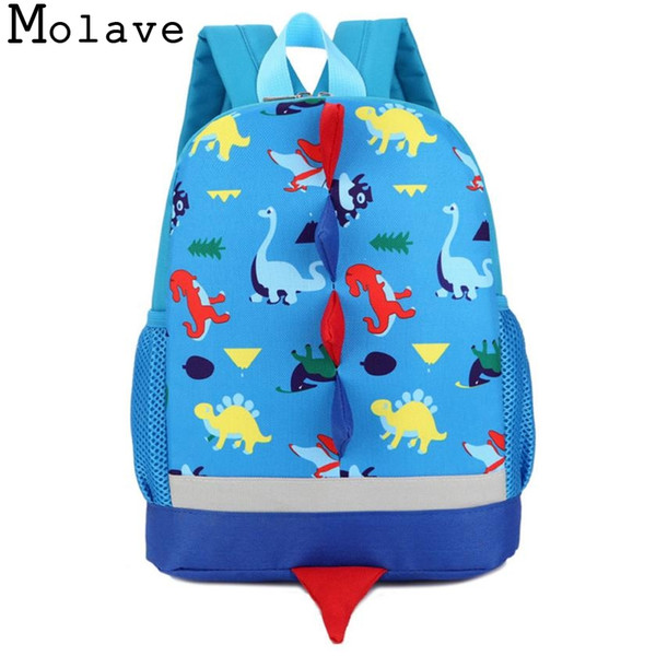 MOLAVE backpack new high quality Baby Boys Girls Dinosaur Pattern Animals Toddler School Bag backpack laptop JAN4