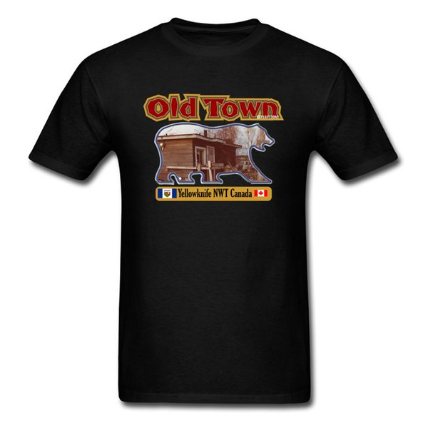 Old Town Yellowknife NWT Canada 2018 Newest Casual T Shirt Round Neck 100% Cotton Tops Tees For Men Clothing Shirt Summer/Fall