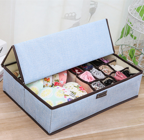 2019 Folding Storage Box For Sock Underwear Closet Organizer Storage Case  Bedroom Wardrobe Now Woven Storage Boxes Holder Dustproof Finishing Box  From ...
