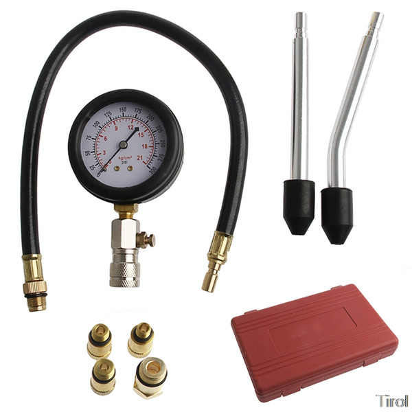 1PC Car Compression Vacuum Testers Portable Engine Cylinder Pressure Gauge Compression Tester Diagnostic Tool Kit