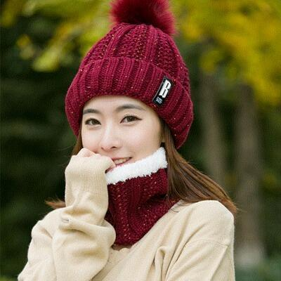red wine Hat Scarf