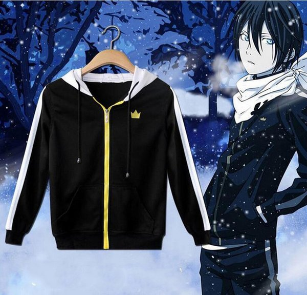 top popular Anime Noragami Yato Cosplay Unisex Casual Sweatshirt Hoodie Jacket Coat 2020