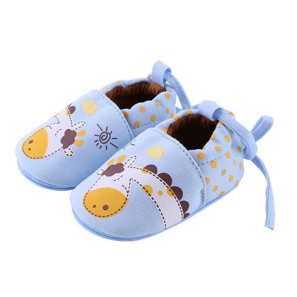 Spring Autumn Cartoon Cute Baby Shoes Soft Cotton Lace-up Anti-Slip Infants First Walkers Boys Girls Prewalker