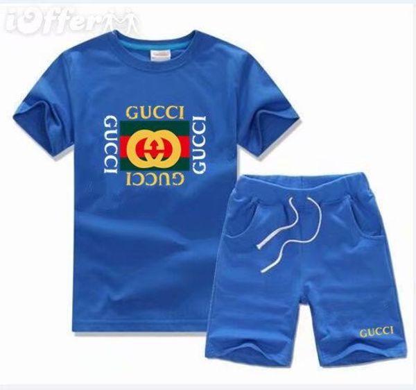 Hot Summer Brand Kids Clothes Set Boys Sport Suit Children Short-sleeve T-shirt+shorts Pant Girls Clothing Jogging Tracksuit