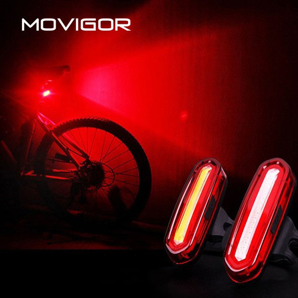 MOVIGOR 120 Lumens Waterproof LED Bicycle Taillight USB Rechargeable MTB Road Bike Rear Light Rotatable Night Warning Light