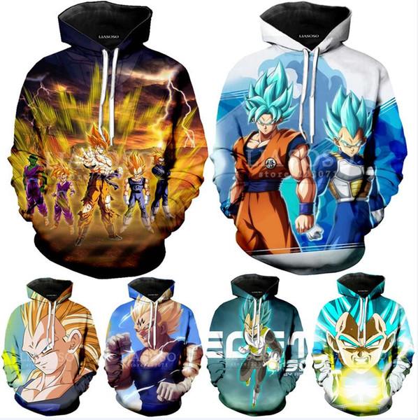 Compre 2018 Nueva Animado Dragon Ball Z Bolsillo Con Capucha Sudaderas Kid Goku 3d Sudaderas Con Capucha Mujeres De Los Hombres De Manga Larga Con