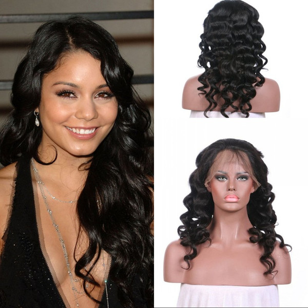 Cheap Price Full Lace Wigs With Baby Hair Loose Wave Peruvian Virgin Human Hair No Tangle No Shedding In Stock FDSHINE HAIR