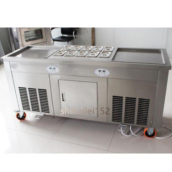 Ice cream machine / fried yogurt machine Thai ice cream roll 110V / 220v air free shipping. Need to transport by sea. Contact quote