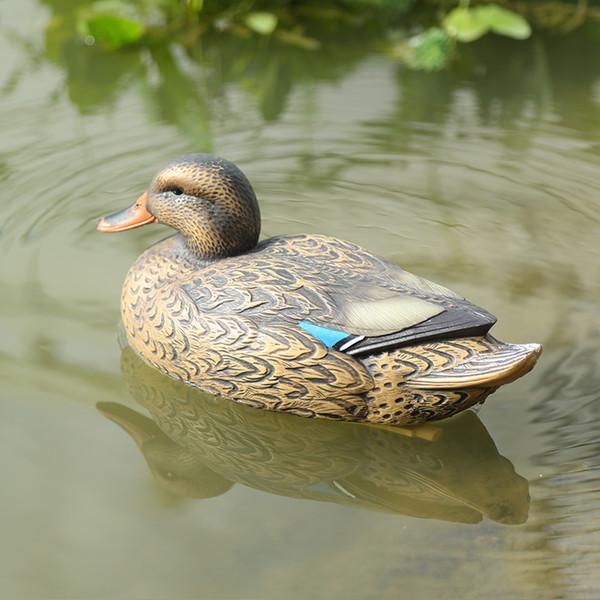 Großhandel Floating Plastic Mallard Duck Decoy Tödliche Jagd Fischköder Köder Henne Angelgeräte Kunststoff Garten Dekoration