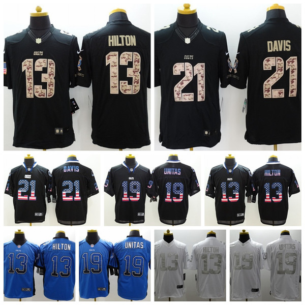 049907cb 2019 2019 New Mens 21 Vontae Davis Indianapolis Jersey Colts Football  Jersey 100% Stitched Embroidery 13 T.Y. Hilton 19 Unitas Football Shirt  From ...