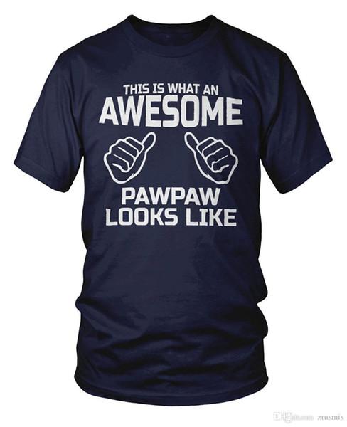 2018 New curto-sleeved gola redonda Este é o que um impressionante PawPaw parece T-shirt solto Tshirt