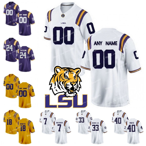 free shipping 209f7 bd95a Best Lsu Tigers #1 Eric Reid 11 Spencer Ware 33 Jamal Adams 80 Jarvis  Landry Personalized Custom Any Name Any Number College Football Jersey  Under ...
