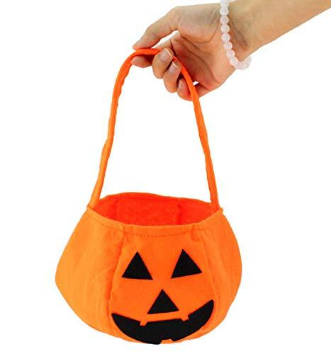 Halloween smile Bags Pumpkin Candy Holders Kids Child Play Trick Treat Snack Basket Bag Children fabric Handhold bag Party Supplies