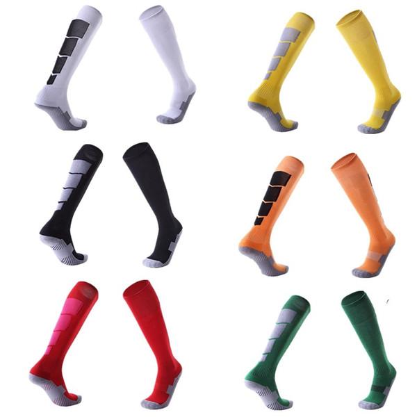 Men Women Sports Professional Football Socks Knee-high Compression towel Wear-resisting Breathable Leggings stocking Soccer basketball Sock