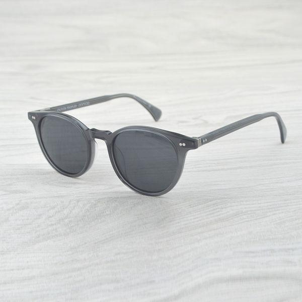 Vintage Oliver Round Sunglasses Delray Polarized Sunglasses Men&Women OV5318 oculos feminino Sun Glass for Women Brand Designer