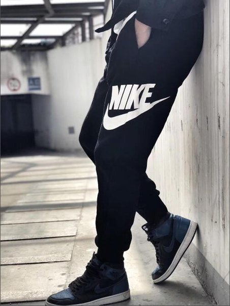 Free shipping 2018 New style apparel men's pants Winter flannel sports pants fashion men's casual pants black/gray size:M--XXL