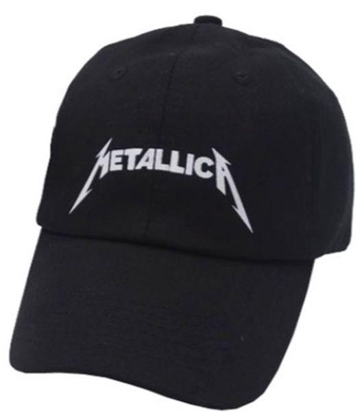 5294adf9f00 Women Men Cool Rock Black Baseball Caps Metallica Band Fans Cap Metal Rock  Music Fans Cotton Trucker snapback hood Caps Hat
