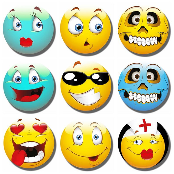 graphic regarding Printable Emoji Stickers identified as 2018 Lovely 30MM Emoji Expressions Refrigerator Magnet Humorous Emoji Gl Magnetic Fridge Stickers Notice Holder Residence Decor Xmas Printable Refrigerator