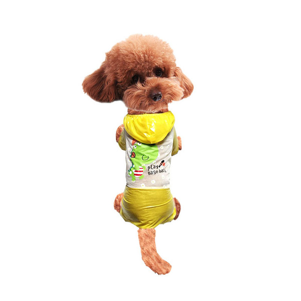 Multi colors Waterproof Puppy Raincoat colorful Pet Rainwear Clothes for Spring Summer Dogs/Cats - Size S-XL