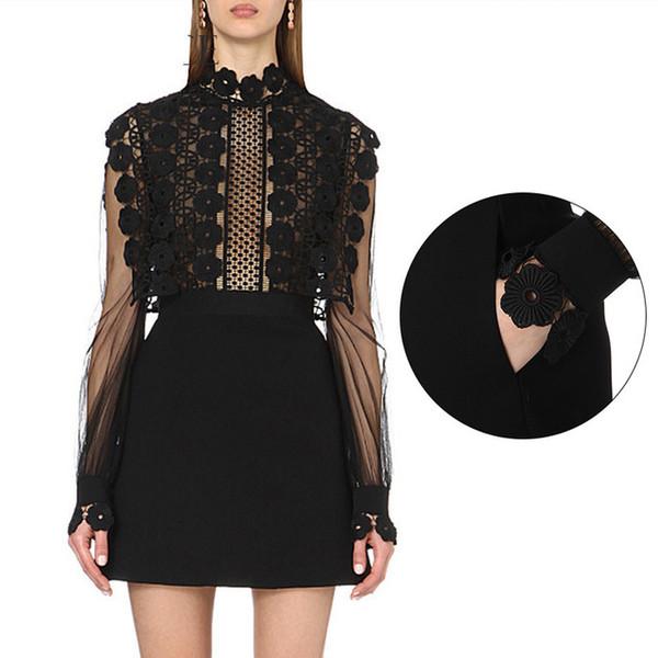 UK autoportrait été 2017 crochet de piste Designer de mode crochet fleur dentelle évider partie Casual Mini Robe Femme vestido