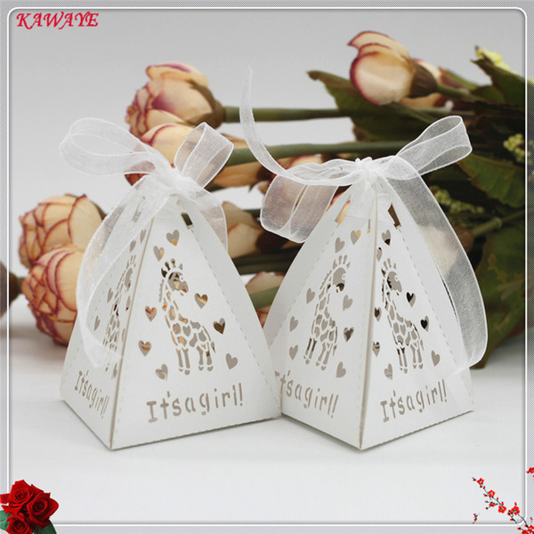 Diy Gift Box Creative Three Cone Hollow Fawn Wedding Candy Box Birthday Party Wedding Supplies Baby Shower 6zxt11 Gift Bags Paper Gift Bags Sale From