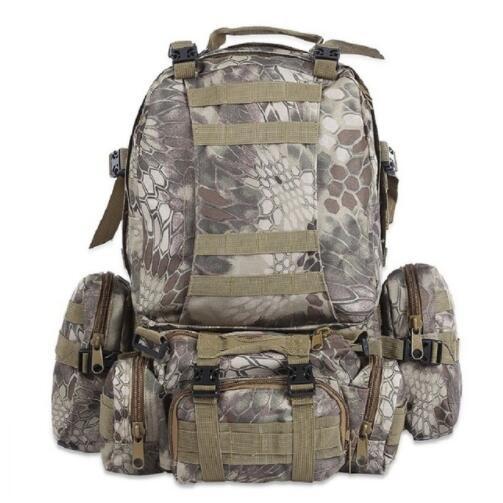 50L Outdoor Sac À Dos Militaire Molle Sac Tactique Sac À Dos À Dos Randonnée Camping Camouflage Résistant À L'eau Sacs De Sport