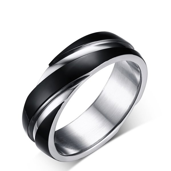 Fashion Daily Wear Rings Lead & Nickel Free Black Color Stainless Steel Titanium Men Women Wedding Engagement Knuckle Rings