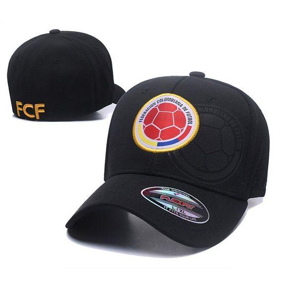 Unisex Federación Colombiana De Futbol Fútbol hecho a mano Ajuste Color sólido Fútbol Deportes Sombrero de papá curvo, Algodón hecho gorra