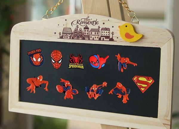 8Pcs/Set Spider Man Figure Fridge Magnets Sticker Memo Magnetic DIY Decoration Stickers Creative Gift for Kids Souvenir Item
