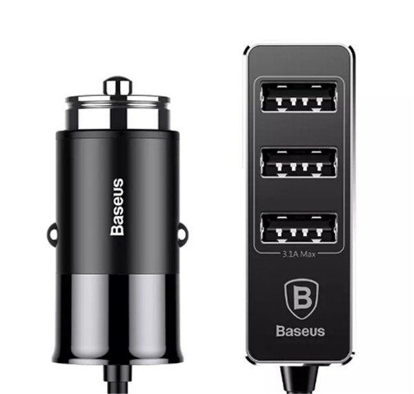 Baseus Fast Car Phone Charger 4 USB Port Mobile Phone Charger 5V 5.5A Car USB Charger for IPhone cellphone