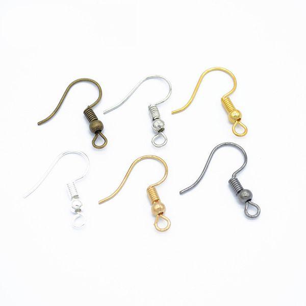 1000pcs/lot DIY Earring Findings Earrings Clasps Hooks Fittings DIY Jewelry Making Accessories Iron Hook Earwire Jewelry