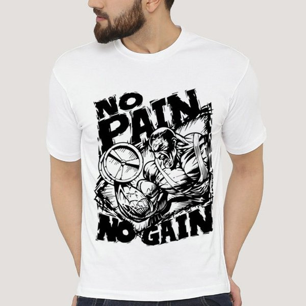 ddc19dd1f No pain no gain t shirt Hard train short sleeve gown Gym fitness tees  Fastness picture