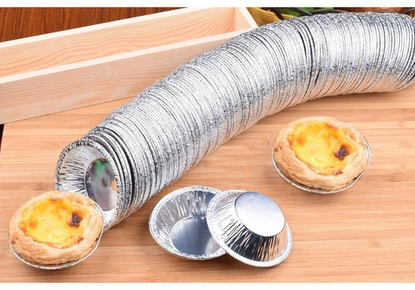 20Pcs New Disposable Aluminum Foil Baking Cookie Muffin Cupcake Egg Tart Round Mold Free Shipping Baking Tools