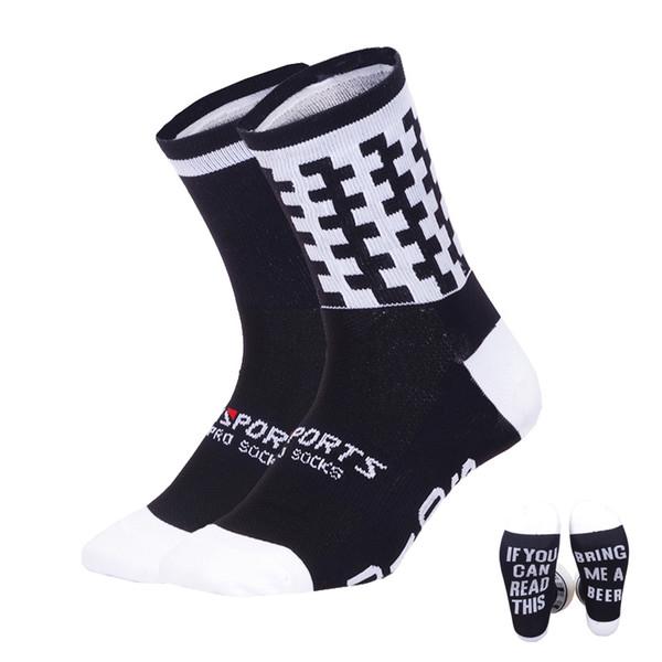 2018 Funny Running Socks Professional Sports Socks Women Men Stylish Cycling Compression Camping Climbing Sock 38-45