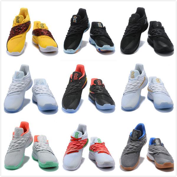 Homens Sapatos Esportivos Kyrie Erwin Baixo Simplificado tênis de basquete resistentes ao desgaste reais Sapatilhas Multicolor Athletic shoes Tamanho 40-46