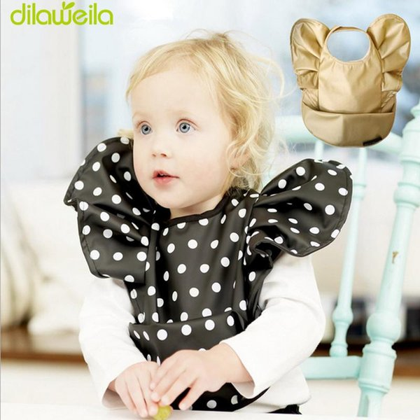 New Pattern The Baby Wave Tyrant Gold Pocket Pocket Bib Bib Hard Waterproof Slobber TRK0062