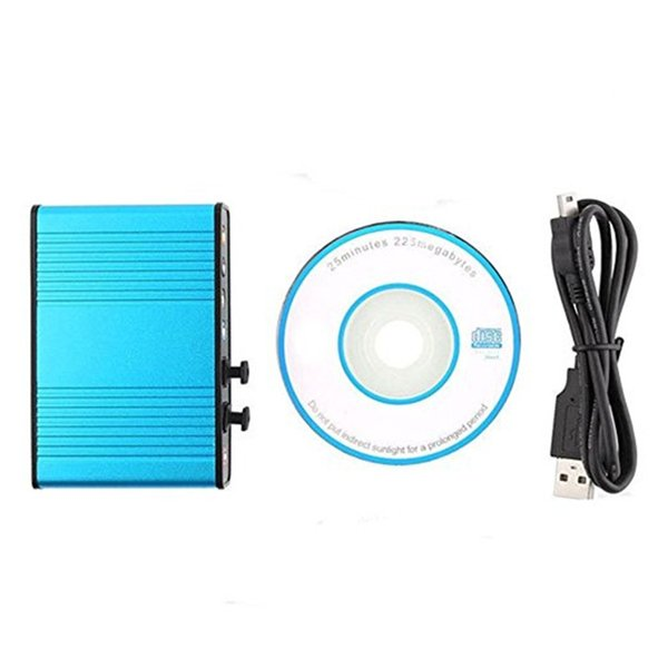 Blue USB 6 Channel 5.1 External Optical Audio Sound Card for PC Laptop Notebook pad