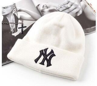 Qualitäts-Weihnachtsverkauf Winter-warme Strickmütze NY Buchstaben stickte Beanie für Unisexmode im Freien gutes Einzelteil
